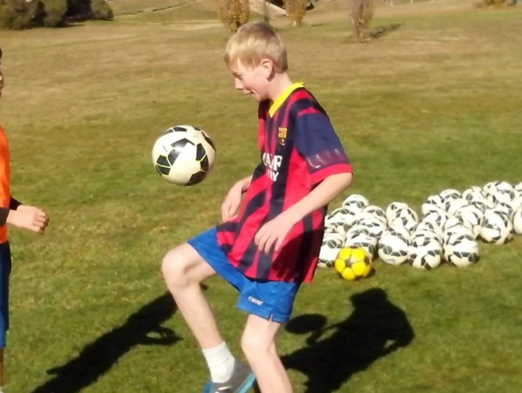 Juggle a Soccer Ball with your Thighs